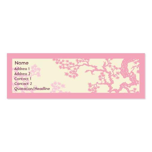 Fleurs de cerisier - maigres carte de visite petit format