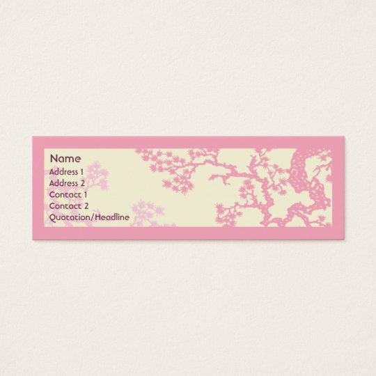 Fleurs de cerisier - maigres mini carte de visite