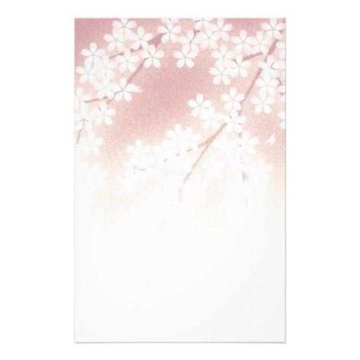 fleurs de cerisier motifs pour papier lettre zazzle. Black Bedroom Furniture Sets. Home Design Ideas