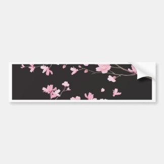 Fleurs de cerisier - noir autocollant de voiture