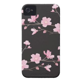 Fleurs de cerisier - noir coques Case-Mate iPhone 4