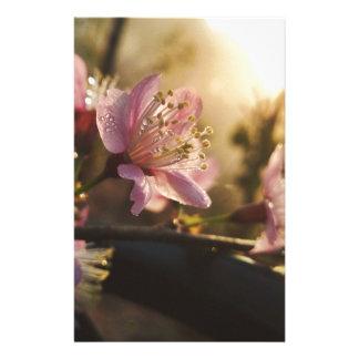 fleurs de cerisier papier à lettre customisé