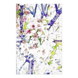 Fleurs de cerisier papiers à lettres