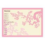 Fleurs de cerisier - potelées carte de visite
