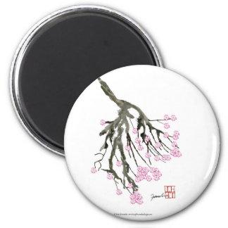 Fleurs de cerisier roses 24, Fernandes élégant Magnet Rond 8 Cm