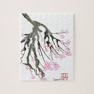 Fleurs de cerisier roses 24, Fernandes élégant Puzzle