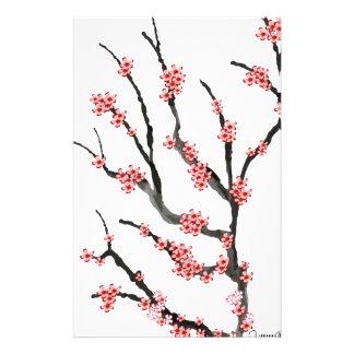 Fleurs de cerisier roses 25, Fernandes élégant Motifs Pour Papier À Lettre