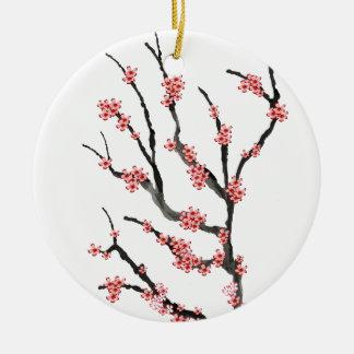 Fleurs de cerisier roses 25, Fernandes élégant Ornement Rond En Céramique