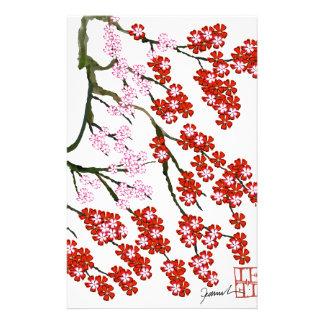 Fleurs de cerisier roses 26, Fernandes élégant Papier À Lettre Personnalisable