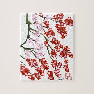 Fleurs de cerisier roses 26, Fernandes élégant Puzzle