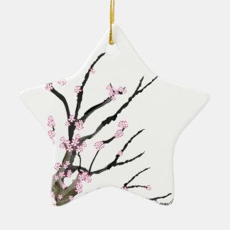 Fleurs de cerisier roses 27, Fernandes élégant Ornement Étoile En Céramique