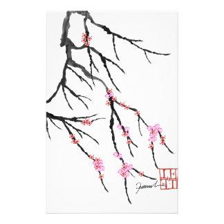 Fleurs de cerisier roses 29, Fernandes élégant Papier À Lettre Customisé