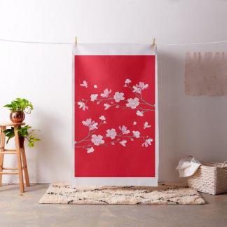 Fleurs de cerisier - rouge tissu