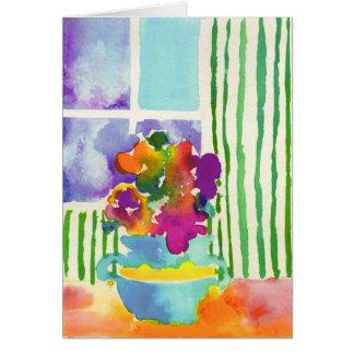 Fleurs de fenêtre par Jessie Abrams, âge 11 Cartes De Vœux