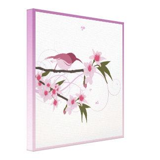 Fleurs de jour de mères dans le lilas, le toile