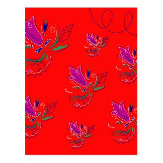 Fleurs de la Bolivie/collection de luxe d'Ethno Carte Postale