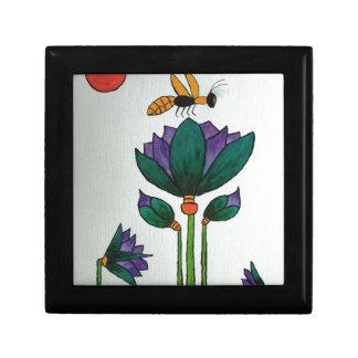 Fleurs de Lotus avec l'abeille Boîte À Souvenirs