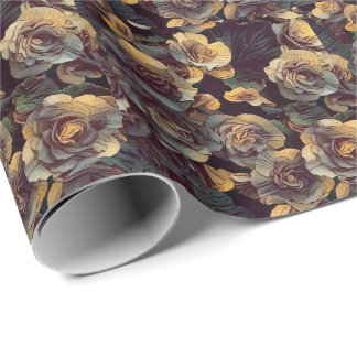 Fleurs de mur de Victoria (papier d'emballage) Papier Cadeau