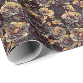 Fleurs de mur de Victoria (papier d'emballage) Papiers Cadeaux