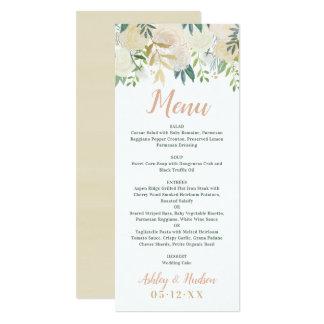 Fleurs de neutre de la carte | de menu de dîner de