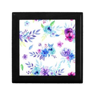 Fleurs de pourpre d'aquarelle boîte à souvenirs