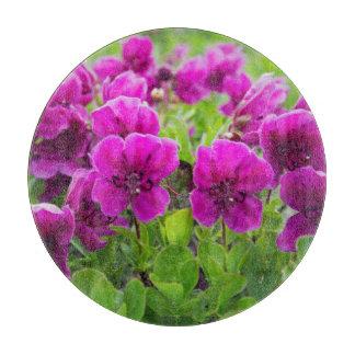Fleurs de pourpre de beauté planche à trancher
