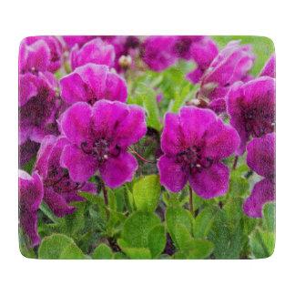 Fleurs de pourpre de beauté planches à découper