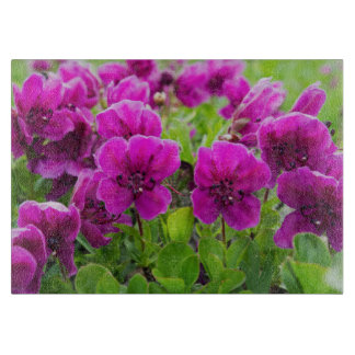 Fleurs de pourpre de beauté planches à trancher