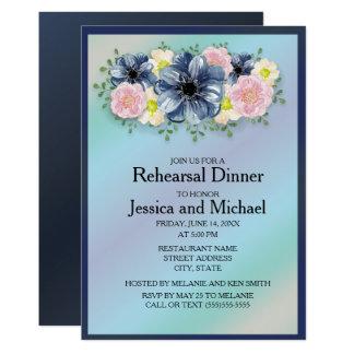 Fleurs de printemps sur la répétition de mariage carton d'invitation  12,7 cm x 17,78 cm