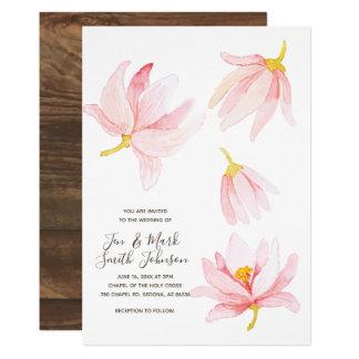 Fleurs de ressort d'aquarelle. Invitation de