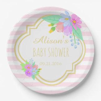 Fleurs de ressort des plaques à papier de baby assiettes en papier