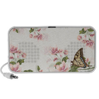Fleurs de ressort et haut-parleur de papillon