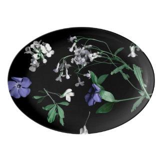 Fleurs de ressort sur le plateau noir de coupé