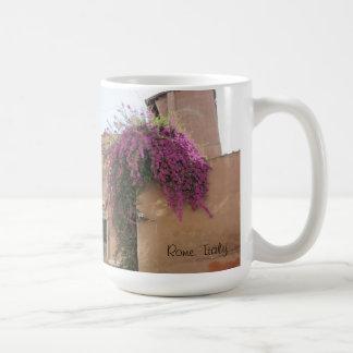 Fleurs de Rome, Italie Mug Blanc