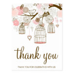 Fleurs de rose et de Brown et carte de remerciemen Cartes Postales