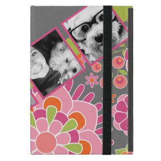 Fleurs de roses indien et d'orange de collage de p étui iPad mini