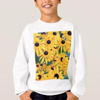 Fleurs de Susan observées par noir dans Sweatshirt