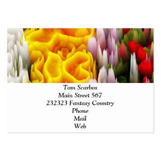 fleurs de tache (i) carte de visite grand format