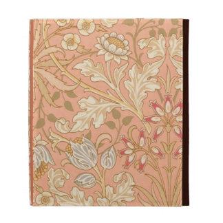 Fleurs décoratives de rose en pastel étui iPad folio