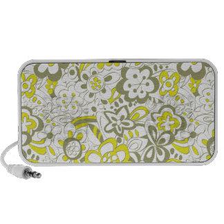 Fleurs délabrées - vert haut-parleurs notebook