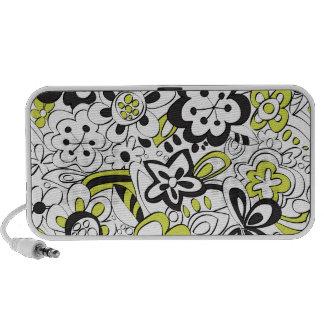 Fleurs délabrées - vert/noir haut-parleur iPhone