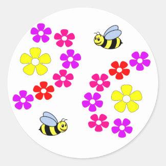 Fleurs des abeilles N Autocollants