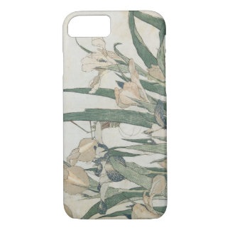 Fleurs d'iris et sauterelle, c.1830-31 coque iPhone 8/7