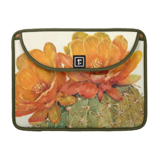 Fleurs d'orange de cactus housse MacBook pro