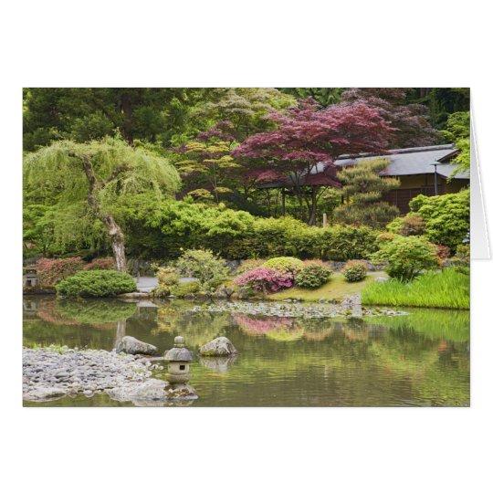Fleurs en fleur au jardin japonais carte de v ux zazzle for Fleurs thes au jardin