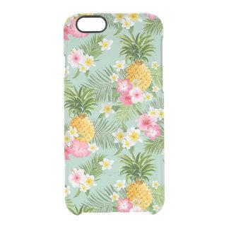 Fleurs et ananas tropicaux coque iPhone 6/6S