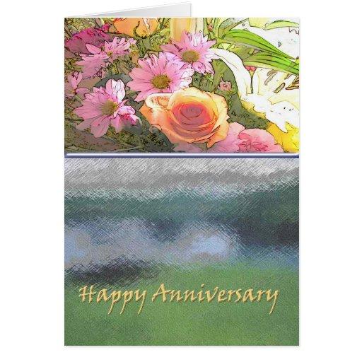 Fleurs et anniversaire de brouillard carte