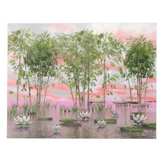 Fleurs et bambous de Lotus - 3D rendent Blocs Notes
