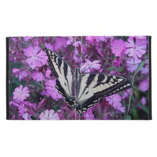 fleurs et folio pourpres d ipad de papillon coque iPad