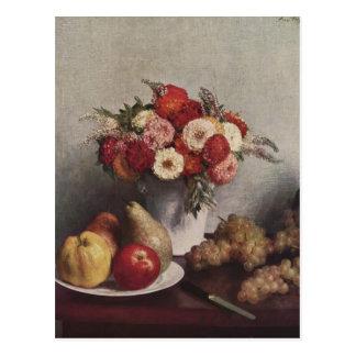 Fleurs et fruit de Henri Fantin-Latour- Cartes Postales